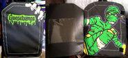 GB logo drippy mummy hand coffin backpack f+i