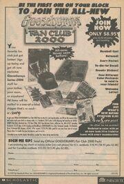 Goosebumps Fan Club 2000 bookad from s2000 5 1998