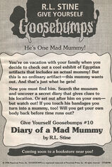 GYG 10 Diary Mad Mummy bookad from OS47 1996 1stpr