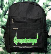 Goosebumps 1995 black backpack two zipper