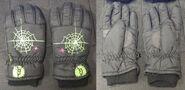 Spiderweb black winter gloves f+b