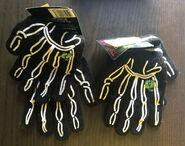 Acrylic gripper skeleton hand gloves