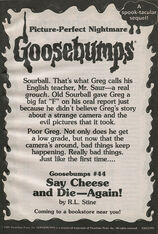 OS 44 Say Cheese and Die Again bookad from OS43