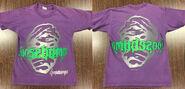Mummy line art 1996 Tour Champ purple T-shirt f+b