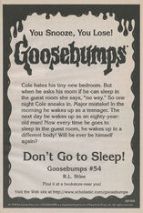 OS 54 Dont Go to Sleep bookad from OS53
