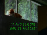 Piano Lessons Can Be Murder/TV episode