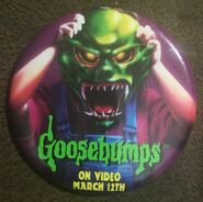 Haunted Mask on Video March 12 promo pinback button