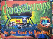Curly Drool Car on Road to Reading 1996 promotional sign