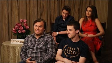 GOOSEBUMPS Interview with Jack Black, Dylan Minnette, Odeya Rush and Ryan Lee