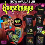Fright Rags Goosebumps Collection masks shirts