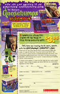 Goosebumps Collectors Club bookad 1999