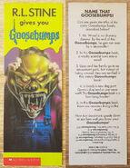 Haunted Mask Glow Dark promo bookmark f+b