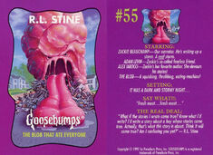 Goosebumps 55 Blob Ate Everyone trading card front and back