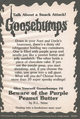 GYG 06 Beware Purple Peanut Butter bookad from OS43 1996 1stpr