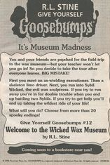 GYG 12 Wicked Wax Museum bookad from OS49 1996 1stpr