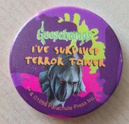 27 Ive Survived Terror Tower 1998 pinback button