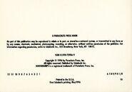 Goosebumps postcard book copyright page