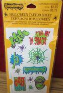 Hallmark 1995 Halloween Tattoo sheet