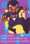Slappy Halloween greeting card front