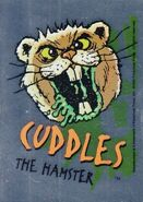 4 Cuddles Topps Foil Sticker