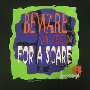 Beware Youre in for a Scare green bordered 1995 TC T-shirt detail TC