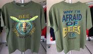 17 Human Bee hexagon Afraid of T-shirt f+b