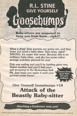 GYG 18 Attack Beastly Baby-sitter bookad from GYG17 1996