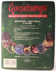 Goosebumps Holiday Collectors Caps Kit Pack back