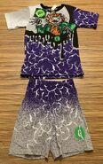 20 Scarecrow cracks purple grey 1995 Hidary shirt + shorts set