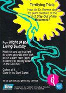 07 Slappy Glow Dark Topps Trading Card G3 back