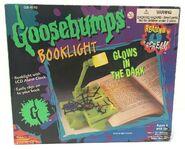 Goosebumps Glow Dark Spiderweb Booklight box front