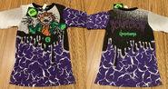 Scarecrow cracks 1995 Hidary purple shirt f+b