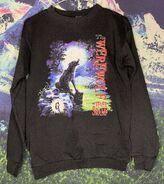 14 Werewolf Fever Swamp verttitle 90s black sweatshirt