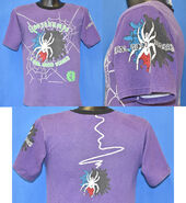 Real Good Scare spider purple t-shirt f+b+s