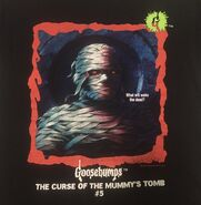 05 Curse Mummys Tomb red border t-shirt detail