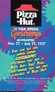 Goosebumps Pizza Hut Kids Pack ad 1997