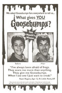 What Gives You Goosebumps contest winner in orig series 28 1stpr Feb 1995