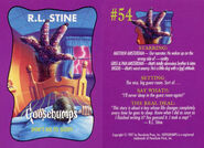 Goosebumps 54 Dont Go to Sleep trading card front and back