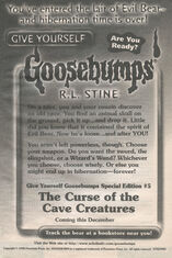 GYG Special Ed 5 Curse Cave Creatures bookad from GYG32 1998