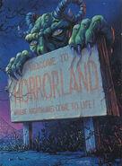 16 Horrorland Glow Dark Topps Trading Card
