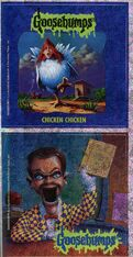 Goosebumps 53 Chicken Chicken metallic stickers