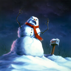 Beware, The Snowman - artwork