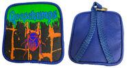 GB bug blue mini backpack keychain f+b