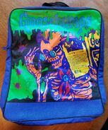 Goosebumps Curly 90s blue backpack