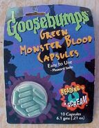 Green Monster Blood Capsules in pkg