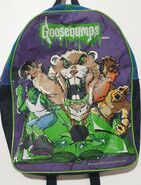 Goosebumps Cuddles 1997 purple backpack