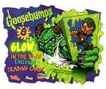 Glow in the Dark Trading Cards Promotional Sign