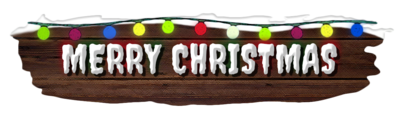 Merry Christmas - Banner (solid)