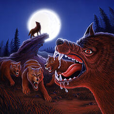 Night in Werewolf Woods - artwork