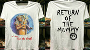 23 Return of Mummy back from dead 90s T-shirt f+b